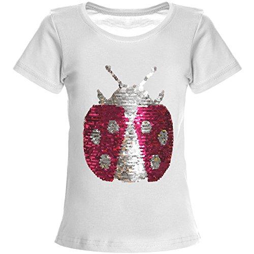 BEZLIT Mädchen Wende Pailletten T-Shirt Top Bluse Kurzarm-Shirt