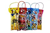 #9: SR GIFTS Pack of 12 Mix Cartoon Printed Stationery Pouch For Kids Birthday Party Return Gift