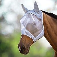 Harrison Howard CareMaster Máscara Anti-moscas Protección Con Orejas Plata (M; Cob)