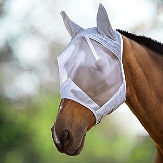 Harrison Howard CareMaster Fly Mask Half Face Moonlight Silver (S; Pony) 12