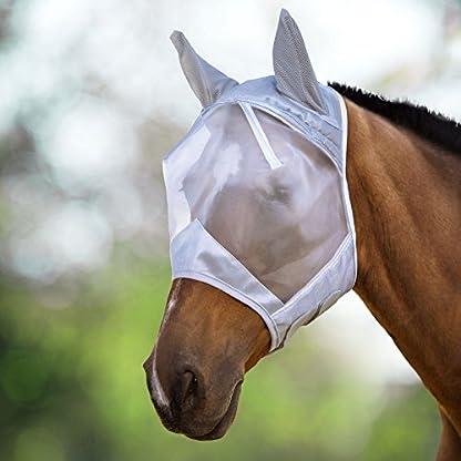 Harrison Howard CareMaster Fly Mask Half Face Moonlight Silver (S; Pony) 1