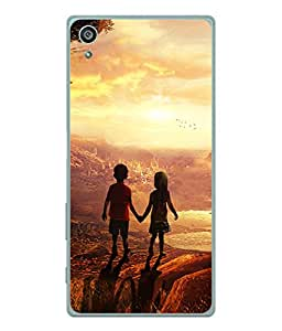PrintVisa Designer Back Case Cover for Sony Xperia Z3+ :: Sony Xperia Z3 Plus :: Sony Xperia Z3+ dual :: Sony Xperia Z3 Plus E6533 E6553 :: Sony Xperia Z4 (Book Shelf Multi colour Painting Designer Case Modern Art Cell Cover Lovely painting Smartphone Cover abstract paint classic )