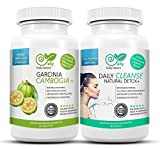Garcinia Cambogia 80% HCA & Detox cleanse plus – Original bundle von DailyNature. Vegetarisches Set. Superstrange+ Garcinia Tabletten und 13in1 colon cleanse Duo. Stärkere optimierte Garcinia Tabletten für schnellere Ergebnisse. UVP: 49,95€