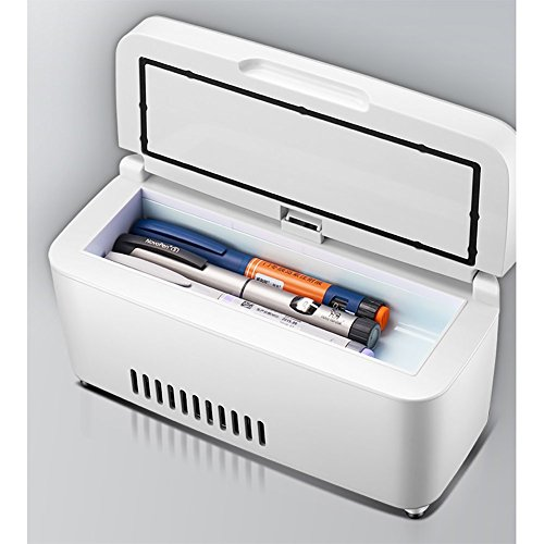 L&Z Refrigerador De Insulina Portátil Caja Recargable Mini Pequeño Refrigerador Vehículo Inteligente...