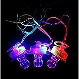 UChic 4 STÜCKE leuchten Blink Witz Schnuller Spielzeug LED Schnuller Whistle Geeignet für Aktivitäten in KTV und Bar Konzert Werkzeuge für Jubeln für Sportveranstaltungen