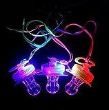 Uchic 4pcs Light Up clignotant Joke Bébés jouet LED Bébés Sifflet Convient pour les activités en KTV et barre outils de concert pour encourager pour les événements sportifs