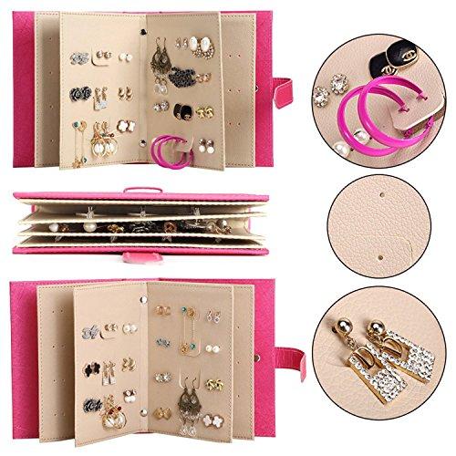 Porta orecchini organizer scomparti gioielli supporto custodia portatile in pu per 42 paia di orecchini regalo per ragazza donne twolights