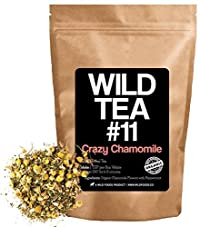 Organic Peppermint Chamomile Tea, Wild Tea #11 Premium Whole Chamomile Flowers with Zesty Peppermint by Wild Foods (4 ounce)