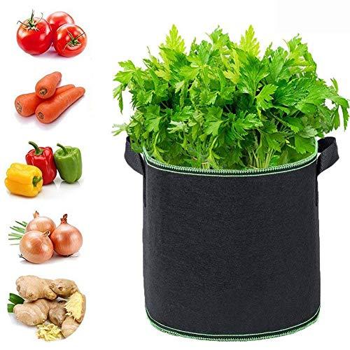 ZDYLM-Y Kartoffel Pflanzsack 10 Gallonen Atmungsaktiv Wiederverwendbar Filz Dicker Vliesstoff mit Griff Blumentopfpflanzentasche, 2 Stück,10Gallons