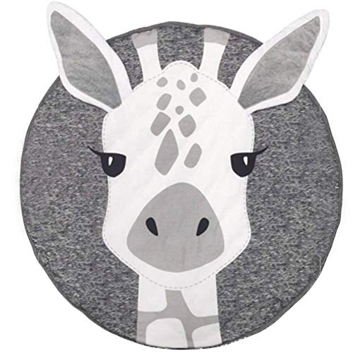 LMXWHN Tappetini da Gioco in Cotone Neonato Morbido Cartone Animato Stampa Animalier Gioco Tappetini per Camerette Tappeti per Bambini Striscianti Gioco Tappeti 90Cm-Giraffe
