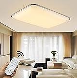 Natsen® 90W LED Deckenlampe Deckenleuchte Silber Warmweiß Kaltweiß Neutralweiß mit