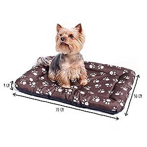 ANIMALY Hundebett wasserdicht und Kratzfest, Hundekissen geeignet für den Außeneinsatz, waschbare Anti-Rutsch Hundedecke, auch als z.B. Katzenbett geeignet, Hundematte braun M