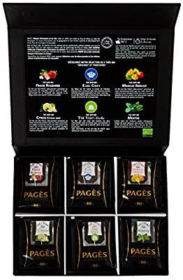 Pagès Coffret en carton de thé Bio 60 sachets