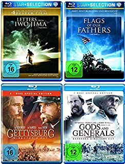 Letters from Iwo Jima + Flags of our Fathers + Gettysburg + Gods and Generals [Blu-ray Set]