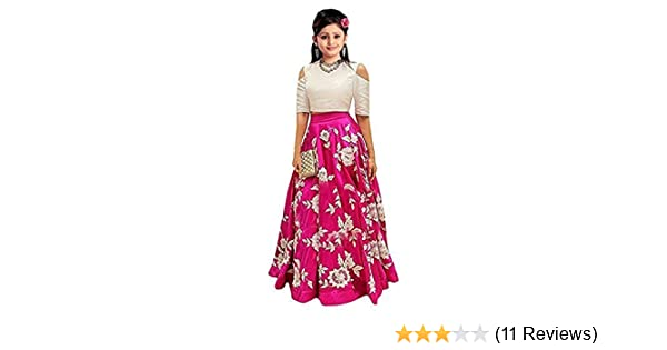 49acdafe7d08f1 Girl's Embroidered Semi Stitched Kids Lehenga Choli(free size 10 to 15 year  girls_EES_arohi pink): Amazon.in: Clothing & Accessories