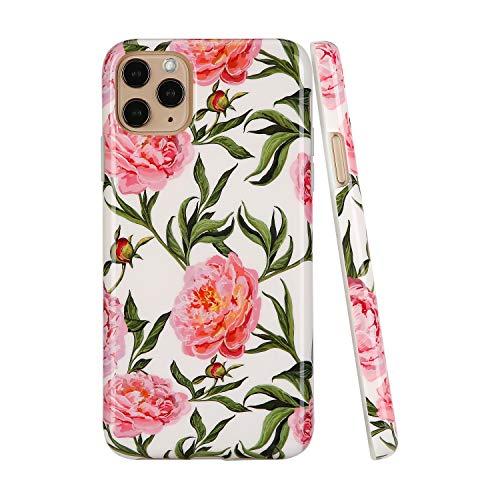 SunshineCases【kompatibel: Apple iPhone 11 Pro Max】 schlanke, volle Hülle, süße Schutzhülle für Frauen und Mädchen, Watercolor Botanical Floral