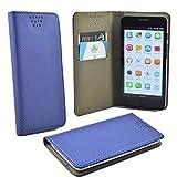 ikracase für Gigaset GS160 GS 160 Smartphone Handyhülle Schutzhülle Hülle Slide Kleber Case Cover Schutz Handy Tasche Cover Etui Schale - Blau