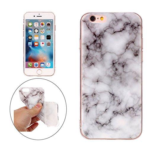 Apple iPhone 6 6S TPU Marmor-Hülle – Marmor Optik Case Schutzhülle Crystal Case mit hochwertiger...