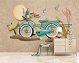 HONGYUANZHANG Benutzerdefinierte Hd 3D Wallpaper Mural Europäischen 3D Stereo Fahrrad Wand Dekoration Malerei Tapete Für Wohnzimmer Tapety,260cm (H) X 340cm (W)