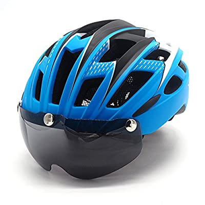 Cycle Bike Helmet with Detachable Magnetic Goggles Visor Shield for Women Men, VICTGOAL Cycling Mountain & Road Bicycle Helmets Adjustable Adult Safety Protection and Breathable from Victgoal
