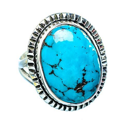 Tibetan Turquoise, Tibetische Türkis 925 Sterling Silber Ring 7 (Ana Silver Co Ringe)