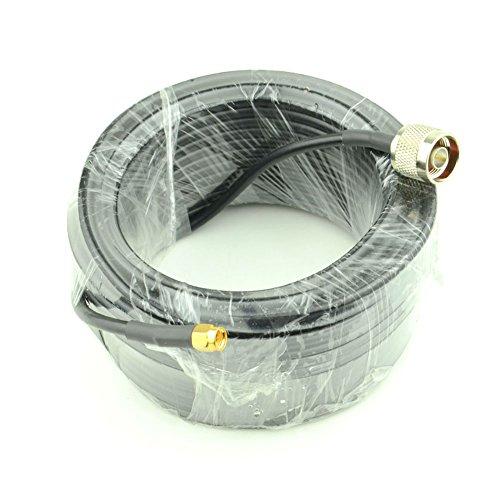 YILIANDUO WiFi Antennenkabel mit geringem Verlust 15 Meter (49,2 Ft) N Stecker zu SMA Stecker RG58 Koaxial 50 Ohm für CB Amateur Funkgerät 3G 4G LTE Schinken ADS-B -