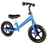 Childrens Balance Bike Metal Boys Girls Running Walking Training Bicycle