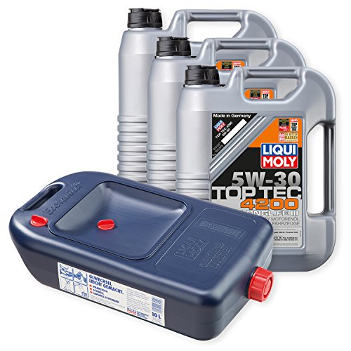Preisvergleich Produktbild 3x LIQUI MOLY TopTec 4200 Motoröl 5W-30 5L 3707 + Kanister