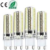 Liqoo 4er G9 5W LED Lampe Birne Kaltweiß 6000K 320LM Halogenlampe ersetzt 30W 360° Abstrahlwinkel AC 220-240V Pack of 4