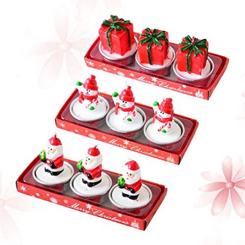 TOYANDONA Tres velas navideñas,adornos,caricaturas,adornos,regalos de Navidad.