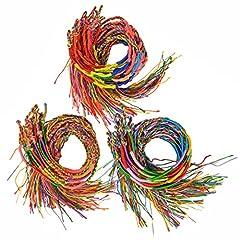 Idea Regalo - Jerbro 60 Pezzi Braccialetto Amicizia Intrecciato Colorato Braccialetto Filo Braccialetti di Polso Braccialetto di Caviglia del Polso
