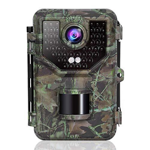 MC.PIG Wildkamera Jagdkamera 16MP 1080P Wasserdichte Jagd-Scouting-Kamera für die Überwachung von Wildtieren mit Einer Auflösung von 16 Megapixeln Motion Activated Nachtsicht 2,4-Zoll-IR-LEDs