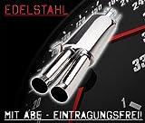 JOM Car Parts & Car Hifi GmbH 85612 Endschalldämpfer Edelstahl