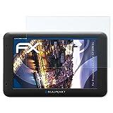 atFoliX Panzerfolie für Blaupunkt TravelPilot 53 Cam EU Folie - 3 x FX-Shock-Clear stoßabsorbierende ultraklare Displayschutzfolie