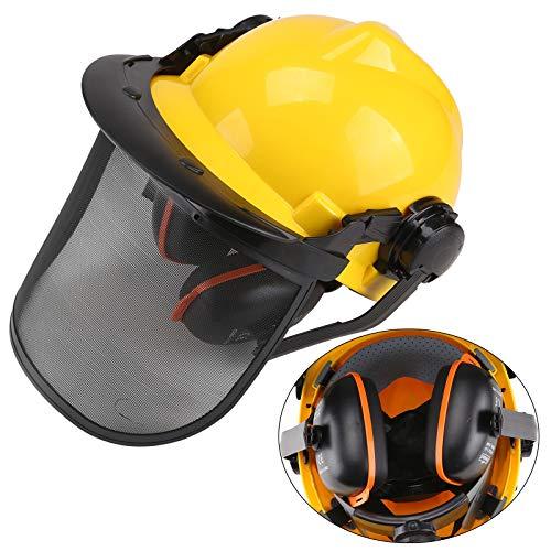 BALLSHOP Profi Forsthelm Kopfschutz Sicherheitshelm mit Gesichts- und Gehörschutz 52-64cm Visier Ohrenschutz für Forstarbeiten