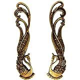Esplanade - Designer Brass Door Handle Pair (2 pcs) | Home Decor | Door Decor | Pair of Brass Door Handles | Pair of Brass Door Pulls (Peacock)