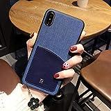 OCHENG Coque Mobile iPhone XS Max Coque IPhoneX Simple Coque de Protection Anti-Chute IPhoneXS pour Entreprise (Couleur : Noir, Taille : Iphone X)