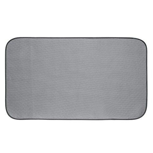 iDesign iDry Badteppich aus Microfaser, 79 x 46 cm, grau, polyester -