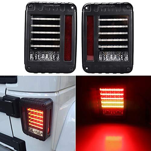 Toppower Rückleuchte Rücklicht CREE Led Chips EU Europäische Version 10W -Volle Funktion Bremslicht /Blinker/Tagfahrlicht/Reflektor (Wrangler Jeep Rückleuchten)