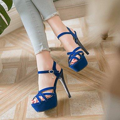 LvYuan Sandali-Casual Serata e festa-Club Shoes-A stiletto-Finta pelle-Nero Blu Rosso Red