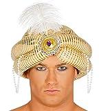shoperama Turban Hut Maharadscha Sultan Orient 1001 Nacht Aladin Wüsten-Prinz Emir Kalif Bollywood Kopfbedeckung Kostüm-Zubehör