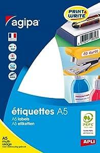APLI Etui A5 ( 16F ) de 1536 étiquettes multi-usage Permanentes Rondes 15 mm Blanc