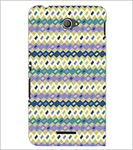 PrintDhaba Pattern D-5260 Back Case Cover for SONY XPERIA E4 (Multi-Coloured)