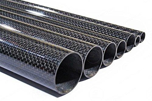 1m Präzisions Carbon Rohr glänzend Ø16mm Durchmesser 0,5mm Dicke (Sichtcarbon) - S2-Carbon (S2 Carbon)