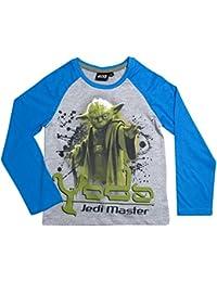 Star Wars Kollektion 2017 Langarmshirt 104 110 116 122 128 134 140 146 Shirt Neu Jungen Pullover Yedi Meister Yoda Yedi Master Grau-Blau