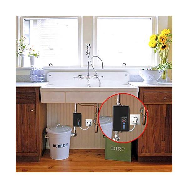 Mini calentador de agua, 5500 W Calentador de agua instantáneo eléctrico Calefacción rápida Sin tanque Ducha Sistema de…