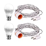 #7: 2-Pin Extension Wire 5 Meter With B22 Holder and 7w Led Bulb (Pack Of 2)