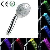 per Beleuchtung Duschkopf Handheld Bunten LED Luminous Glow Wasser Stream für Badezimmer 20mm Universal Connector