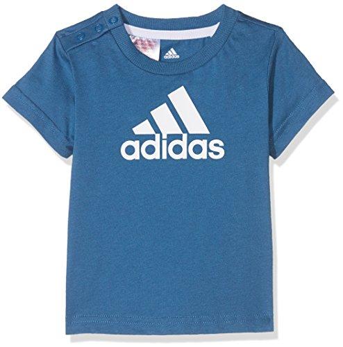 adidas I Fav Tee T-Shirt für Jungen, Blau (Azubas/Weiß), 74