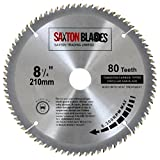 TCT21080T Saxton TCT Circular Wood Saw Blade 210mm x 80T for Festool, Dewalt